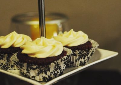 Your choice of red velvet with buttercream, dark chocolate mocha and maple fudge