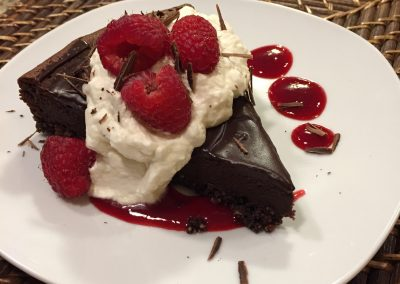 Dark chocolate tart